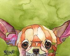 Chihuahua Dog 8x10 Art Print Signed by Artist Ron Krajewski Painting