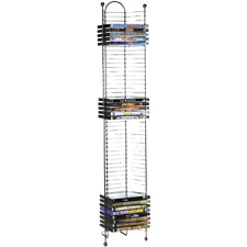 Atlantic 63712035 Nestable 52 DVD/BluRay Movies Games Storage Tower - Gunmetal