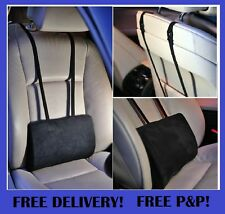 Support Cushion Pillow Lower Back Lumbar For Car Seat & Office Chair Black