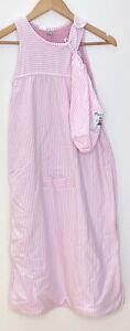 Merino Kids 2-4 years unknown weight Sleeping Bag, pastel pink stripe & bag