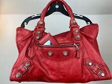 Balenciaga Giant 21 Silver Rouge Coquelicot Work Bag