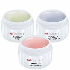 UV-Gel Spar Pack Set 3 x 15ml HaftGel + AufbauGel rosa + finish VersieglerGel
