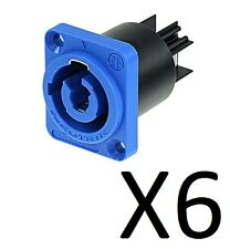 (6 Pack) Neutrik NAC3MPA-1 Powercon Chassis Power In. Rated at 20A/250V (AC)