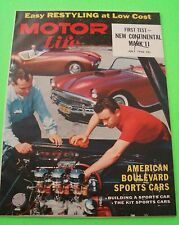 July 1956 MOTOR LIFE Restyling BOULEVARD SPORTS CARS Jaguar XK-140 LINCOLN MK II
