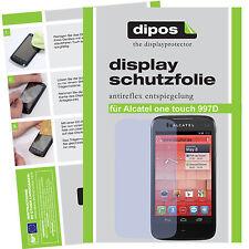 1x alcatel one touch 997d lámina protectora mate protector de pantalla Lámina antireflex