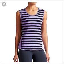 ATHLETA Women's Purple Ocean Striped Muscle Tank Top Size XS