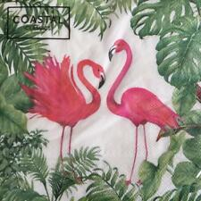 PAPER NAPKINS / SERVIETTES PACK OF 20 FLAMINGO GARDEN 3PLY