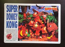 NINTENDO Súper Donkey Kong Promo Tarjeta De Gran Tamaño