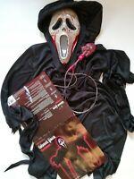 Ghost Face Horror Costume Game Scream Mask Clothing Hooded Robe & Bleeding