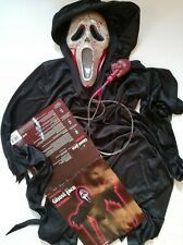 Ghost Face Horror Costume Game Scream Mask Clothing Hooded Robe & Bleeding