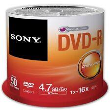 Sony (4.7GB Go) 120 minutes 16 X DVD-R sur Broche (Orange/blanc) Paquet de 50