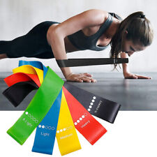 Workout Resistance Bands Loop Set CrossFit Fitness Yoga Booty Leg Exercise Band