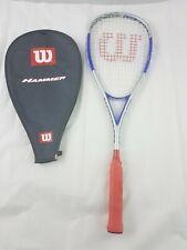 Wilson Hammer Blaze Squash Racket with Case.