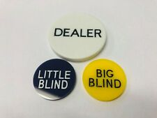 Little / Small Blind, Big Blind and Dealer Button Poker Texas Hold em.
