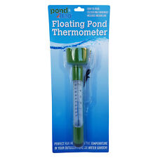 Floating Pond Thermometer With Tie Line Measures Pond Water Temperature