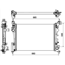 Kühler Motorkühlung - NRF 53115