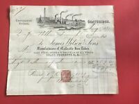James Wilson and Sons 1881 Spades and Shovels Coatbridge receipt R33054