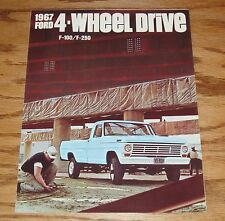 Original 1967 Ford 4-Wheel Drive F-100 F-250 Foldout Sales Brochure 67