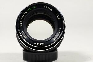 Yashica 50mm f1.4 DS-M M42 Mount lens!!! EXC++++