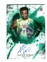 WWE Xavier Woods 2018 Topps Undisputed Green On Card Autograph SN 13 of 50