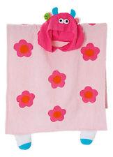 NEU Bade-Poncho MONSTER rosa  Kinder Badeumhang Strand Handtuch Baumw. Frotté CE