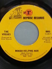 """THE VOGUES 45 RPM """"Woman Helping Man"""" & """"I'll Know My Love"""" VG to VG+ condition"""