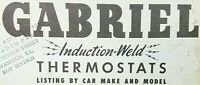 Gabriel Induction Weld Thermostats Listing By Car Make Model & Part Number 1950