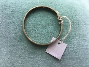 Tutti & co brass bracelet bangle hearts rustic style BNWT