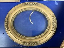 """Antique Victorian Deep Oval Wood Gold Picture Frame & Glass 8x10"""" Beautiful!"""