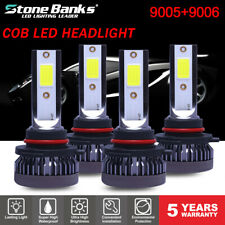 4PCS 9005 9006 LED Headlight Kit Combo Total 220W 44000LM High Low Beam 6000K