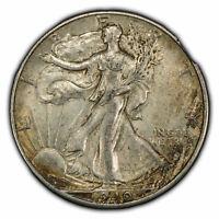 1940 50c Walking Liberty Half Dollar - Original Toning - SKU-Y2193