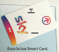 SKY ITALIA PREPAGATA CARD CALCIO PACK AND SKYTV EXP. DATE 01 JULY 2018 PREPAID