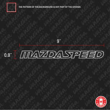 2x MAZDASPEED MAZDA SPEED sticker vinyl car decal white