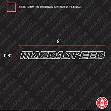 2x MAZDASPEED MAZDA SPEED sticker vinyl car decal