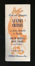 1948 Luxury Cruises Brochure - SS Nieuw Amsterdam/Veendam - Holland America Line