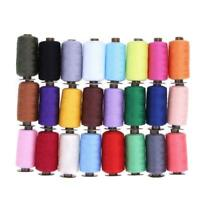 24 Different Colors 1000 Yard Polyester Embroidery Sewing Machine Threads