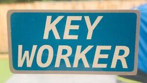 Keyworker Car / Window / Bumper Waterproof Sticker 5 CM X 2.4 CM