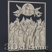 3D STL Model for CNC Router Carving Machine Religion Relief Artcam aspire Cut3D