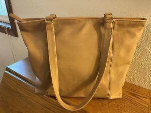 Vintage Coach Taupe Light Tote Shoulder Bag 4065