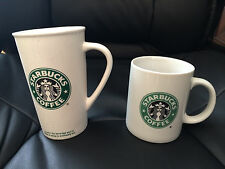 Lot of (2) Starbucks Coffee Tea Mugs - 16oz to go and 12oz cups