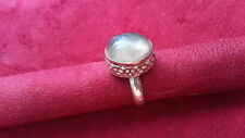 925 Sterling Silver *Size 5.5 *63X Beautiful Flourite Gem Heavy Solid Ring