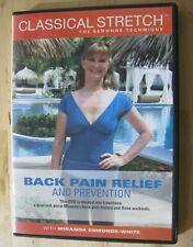 Classic Stretch Technique Back Pain Relief Prevention DVD Miranda Esmonde White