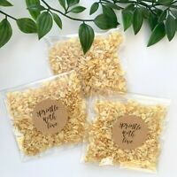IVORY Jasmine Natural Biodegradable Wedding Confetti Dried Petals Bags PACKETS