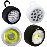 Round Magnetic Work Light Bright Torch Hanging Hook Inspection Lamp Garage Home
