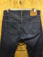 LEVI'S, Mens W33 L32, 501 Classic Fit, Dark Wash, Denim Jeans,*VGC*