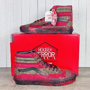Vans X Nightmare On Elm Street SK8-Hi Freddy Krueger Men's Size 9-13 RARE