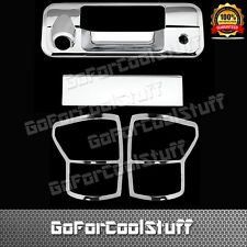 For 2007-2009 Toyota Tundra Tailgate W/Keyhole+Taillight Bezel Chrome Cover