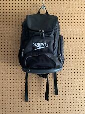 Speedo Teamster 25L Backpack Black Swimming Bag Workout School Travel EUC!
