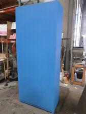 "4 shelf- 3- non-movable shelves   Custom Blue Design Storage Unit, 34""x16""x 80"""