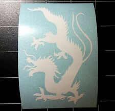 "Chinese Zodiac Year Of The Dragon Gloss White Car Sticker Decal 3"" Wide"